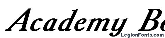Academy Bold Italic Font
