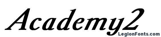 Шрифт Academy2