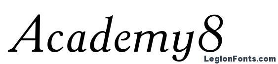 Шрифт Academy8