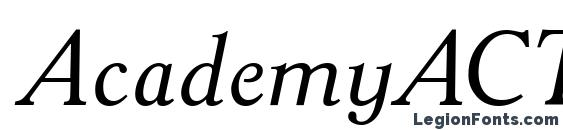 Шрифт AcademyACTT Italic