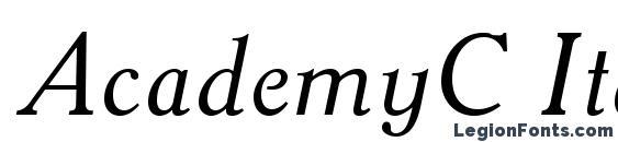 Шрифт AcademyC Italic