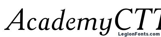Шрифт AcademyCTT Italic