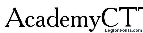 Шрифт AcademyCTT, Русские шрифты
