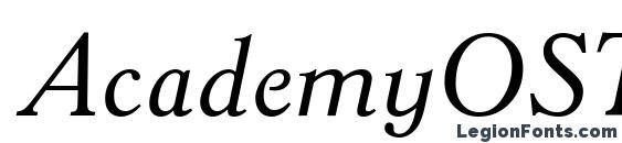Шрифт AcademyOSTT Italic