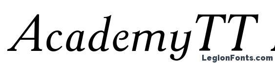AcademyTT Italic Font, Russian Fonts