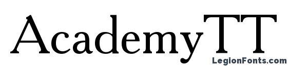 шрифт AcademyTT, бесплатный шрифт AcademyTT, предварительный просмотр шрифта AcademyTT