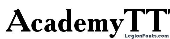Шрифт AcademyTTT Bold