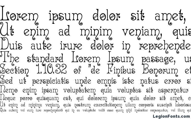specimens Acadianc font, sample Acadianc font, an example of writing Acadianc font, review Acadianc font, preview Acadianc font, Acadianc font