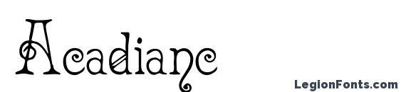 шрифт Acadianc, бесплатный шрифт Acadianc, предварительный просмотр шрифта Acadianc