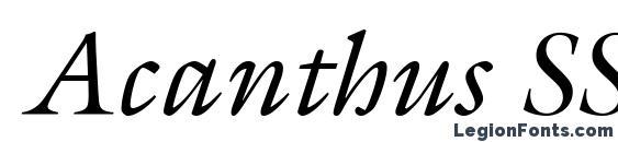 шрифт Acanthus SSi Italic, бесплатный шрифт Acanthus SSi Italic, предварительный просмотр шрифта Acanthus SSi Italic