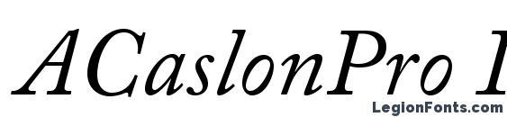 ACaslonPro Italic Font