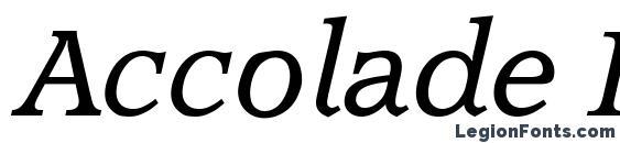 шрифт Accolade Italic, бесплатный шрифт Accolade Italic, предварительный просмотр шрифта Accolade Italic