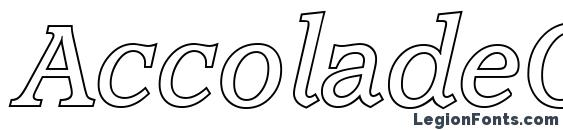 AccoladeOutline Italic Font