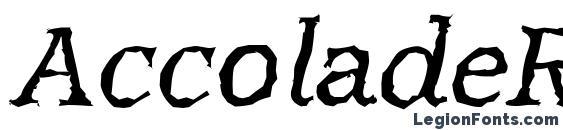 AccoladeRandom Italic Font, African Fonts