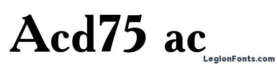 Acd75 ac Font