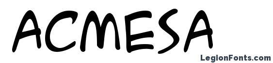 Acmesa font, free Acmesa font, preview Acmesa font
