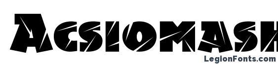 Acsiomashockc Font
