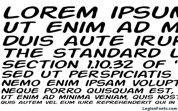 specimens Action Man Extended Italic font, sample Action Man Extended Italic font, an example of writing Action Man Extended Italic font, review Action Man Extended Italic font, preview Action Man Extended Italic font, Action Man Extended Italic font