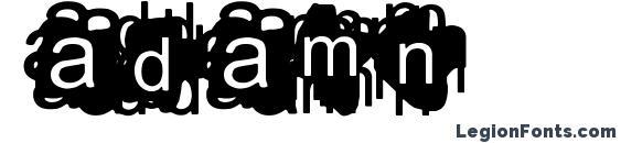 Adamn Font