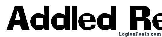 Шрифт Addled Regular