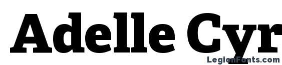 Adelle Cyrillic Extrabold Font
