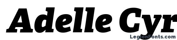 Adelle Cyrillic Heavy Italic Font