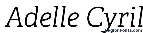 Adelle Cyrillic Light Italic font, free Adelle Cyrillic Light Italic font, preview Adelle Cyrillic Light Italic font