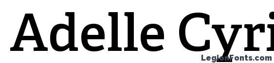 Шрифт Adelle Cyrillic SemiBold