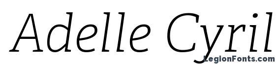 Шрифт Adelle Cyrillic Thin Italic