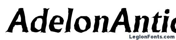 AdelonAntique BoldItalic Font