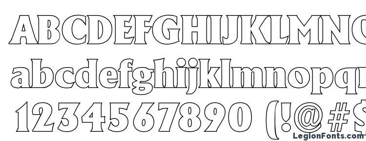 glyphs AdelonOutline Heavy Regular font, сharacters AdelonOutline Heavy Regular font, symbols AdelonOutline Heavy Regular font, character map AdelonOutline Heavy Regular font, preview AdelonOutline Heavy Regular font, abc AdelonOutline Heavy Regular font, AdelonOutline Heavy Regular font