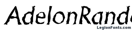 AdelonRandom Italic font, free AdelonRandom Italic font, preview AdelonRandom Italic font