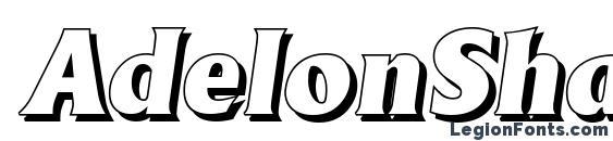 AdelonShadow Heavy Italic Font