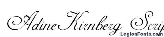 шрифт AdineKirnberg Script, бесплатный шрифт AdineKirnberg Script, предварительный просмотр шрифта AdineKirnberg Script