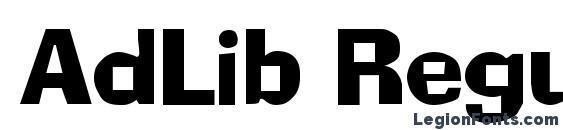 AdLib Regular Font, African Fonts