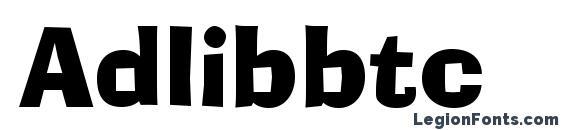 Adlibbtc Font, African Fonts