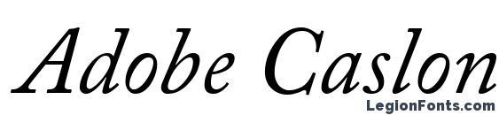 шрифт Adobe Caslon Italic, бесплатный шрифт Adobe Caslon Italic, предварительный просмотр шрифта Adobe Caslon Italic