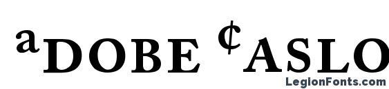 Шрифт Adobe Caslon Semibold Expert, Жирные (полужирные) шрифты