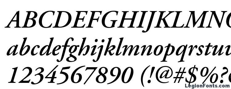 glyphs Adobe Garamond LT Semibold Italic font, сharacters Adobe Garamond LT Semibold Italic font, symbols Adobe Garamond LT Semibold Italic font, character map Adobe Garamond LT Semibold Italic font, preview Adobe Garamond LT Semibold Italic font, abc Adobe Garamond LT Semibold Italic font, Adobe Garamond LT Semibold Italic font