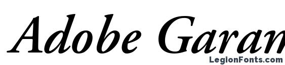 Adobe Garamond LT Semibold Italic Font, Calligraphy Fonts