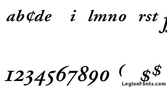 Garamond Semibold Italic