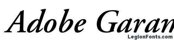 Adobe Garamond Semibold Italic Oldstyle Figures Font