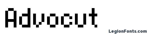 Шрифт Advocut
