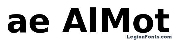 ae AlMothnna Bold Font