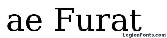 Шрифт ae Furat