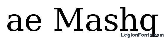 ae Mashq Font