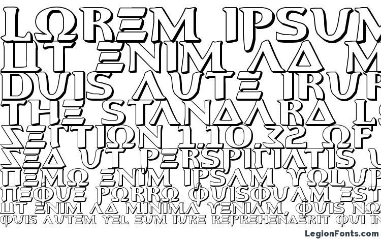 specimens Aegis 3D font, sample Aegis 3D font, an example of writing Aegis 3D font, review Aegis 3D font, preview Aegis 3D font, Aegis 3D font