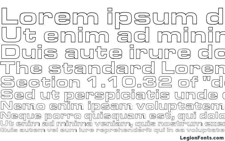 specimens Aero Extended Hollow font, sample Aero Extended Hollow font, an example of writing Aero Extended Hollow font, review Aero Extended Hollow font, preview Aero Extended Hollow font, Aero Extended Hollow font
