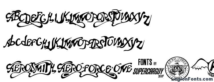 glyphs Aero Font One font, сharacters Aero Font One font, symbols Aero Font One font, character map Aero Font One font, preview Aero Font One font, abc Aero Font One font, Aero Font One font