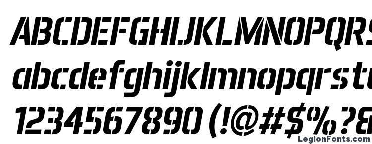 glyphs Aero Matics Stencil Bold Italic font, сharacters Aero Matics Stencil Bold Italic font, symbols Aero Matics Stencil Bold Italic font, character map Aero Matics Stencil Bold Italic font, preview Aero Matics Stencil Bold Italic font, abc Aero Matics Stencil Bold Italic font, Aero Matics Stencil Bold Italic font